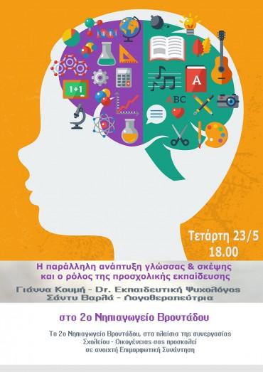 Η παράλληλη ανάπτυξη γλώσσας & σκέψης και ο ρόλος της προσχολικής εκπαίδευσης
